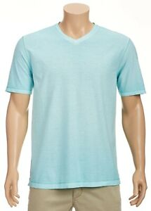 Tommy-Bahama-Cirrus-Coast-V-Neck-S-S-Cotton-Blend-Stretch-XXL-Blue-Swell-NWT