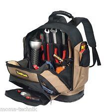 Profi Werkzeugtasche Rucksack für Handwerker Elektriker mit Gummiboden 360.089