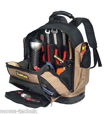 Professional Tool bag Backpack for Electrician Tradesman with Rubber base