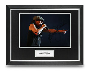 Brian-Johnson-Signed-Photo-Framed-16x12-AC-DC-Autograph-Memorabilia-Display-COA