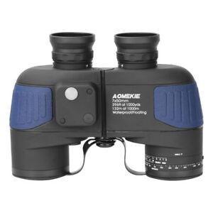 Strict 7x50 Military Binoculars Bak4 Prism Telescope Waterproof W/ Rangefinder Compass Bonne RéPutation Sur Le Monde