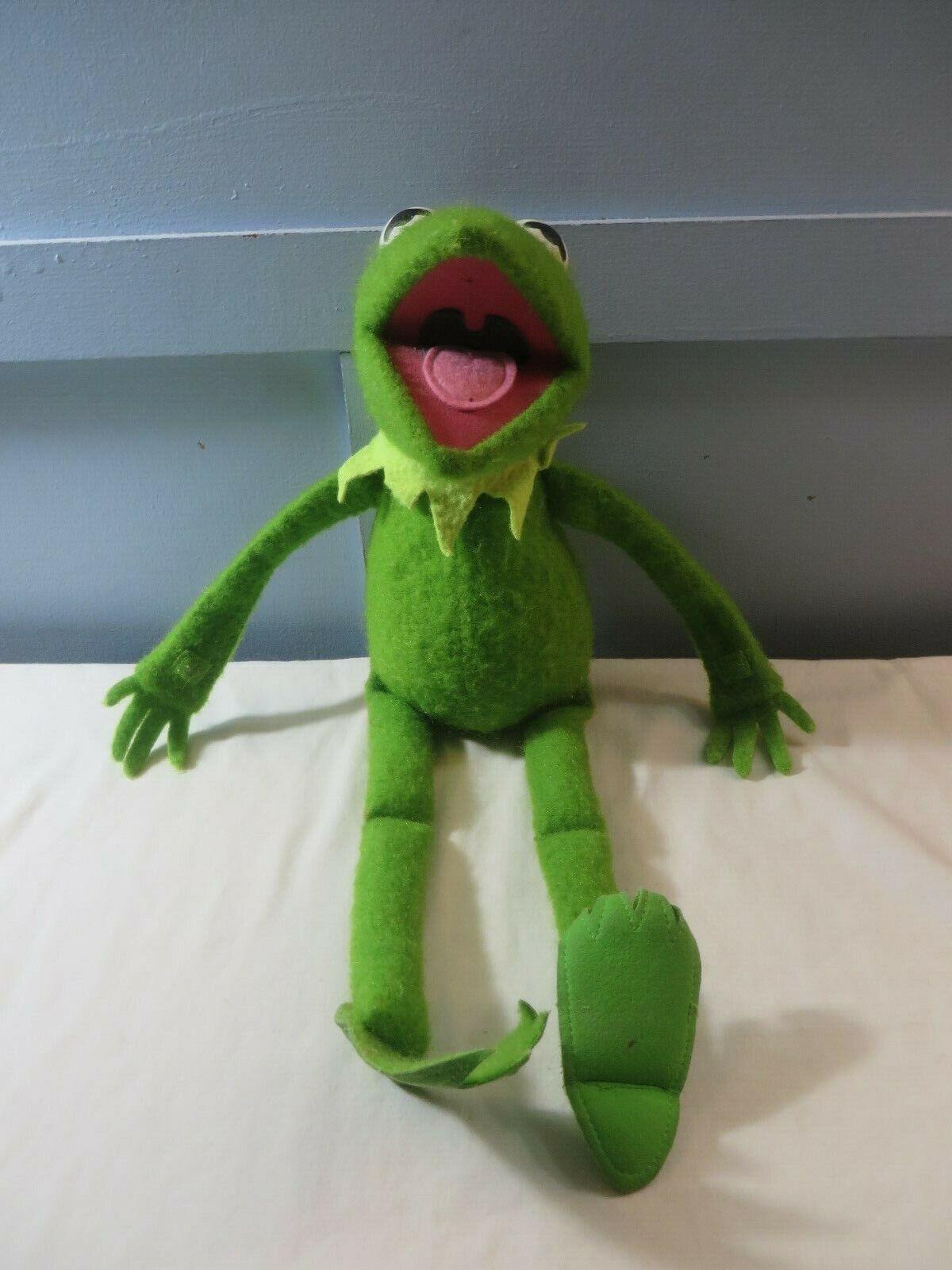 VIntage 1976 Fischer Preis Spielzeugs KERMIT THE FROG Jim Henson Muppet Doll  850