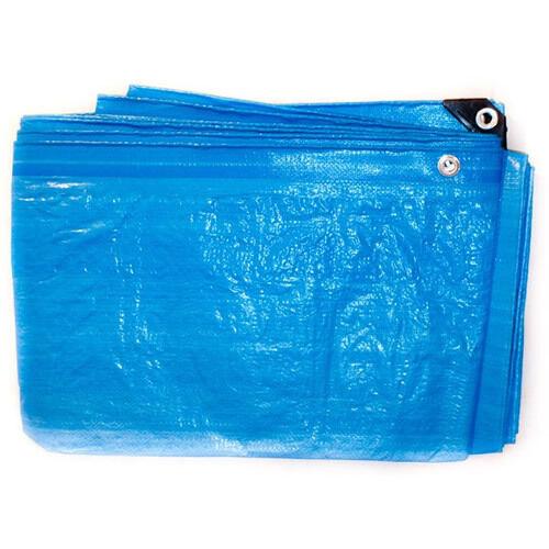 7.0M X 9.0M blueE STANDARD WATERPROOF TARPAULIN WITH EYELETS