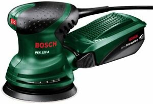 NEW-Bosch-Green-0603378070-PEX-220-A-240v-125mm-Random-Orbit-Sander