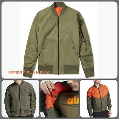 Nike AF1 Air Force 1 Reversible Bomber jacket, Sz Large, AH2033 222, cargo khaki 888411876762 | eBay