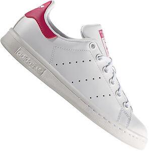 Adidas Originals Stan Smith J Baskets Femmes B32703 Blanc Rose ... 0bb01530ed59