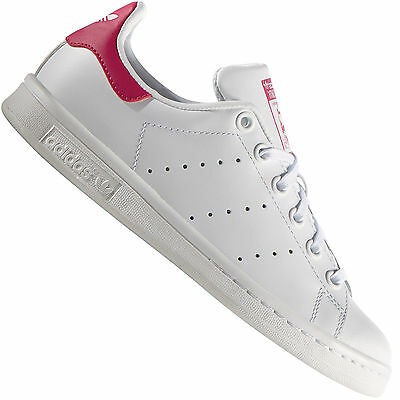 adidas Originals Stan Smith J Damen-Sneaker B32703 White/Pink Turnschuhe Schuhe