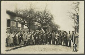 WW1-MILITARY-LORRIE-REGIMENT-ARMY-RPPC-ANTIQUE-PHOTO-POSTCARD