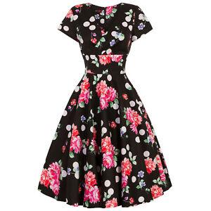 aceba5f9b1b Hell Bunny Collarette Pink Floral Dot 1950s Retro Rockabilly Vintage ...