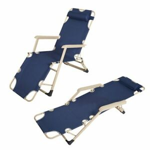 Enjoyable Details About Adjustable Chaise Lounge Chair Recliner Portable Folding Camping Bed Cot Dark Gmtry Best Dining Table And Chair Ideas Images Gmtryco