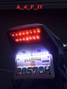 LED TAG LIGHT FENDER ELIMINATOR LED LICENSE PLATE LIGHTS MOTORCYCLE BIKE