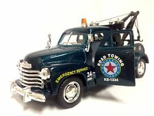 """1953 Chevy 3100 Tow Truck, 5.5"""" Diecast, 1:38 Scale, Pull Back Action,Toys,Green"""