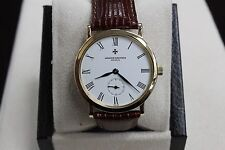 VACHERON CONSTANTIN PATRIMONY 92240 18K YELLOW GOLD WHITE DIAL 33MM