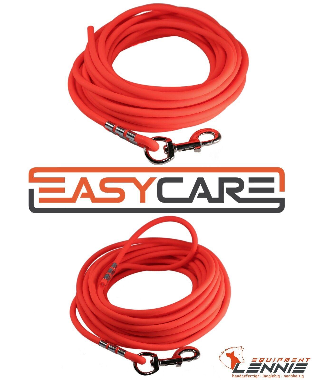 EasyCare Neon-Orange RUNDE Schleppleine, Schweißleine (wasserfest, pflegeleicht)    | Exquisite (mittlere) Verarbeitung  f2fb26