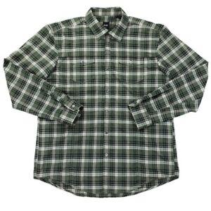 BOSS-Hugo-Boss-Slim-Fit-Plaid-Shirt-Men-039-s-Size-2XL-Green