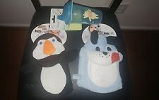 NEW Winnie the Pooh 9 oz Sippy Cup Blue Puppy Dog and Penguin Bath Mitts