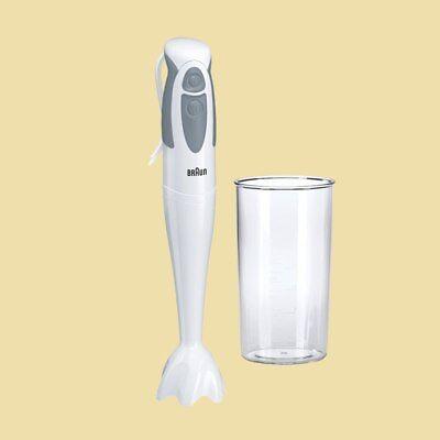 Braun Stabmixer MQ 300 Soup MultiQuick 3 - 550 Watt - Mixbecher - weiss/grau