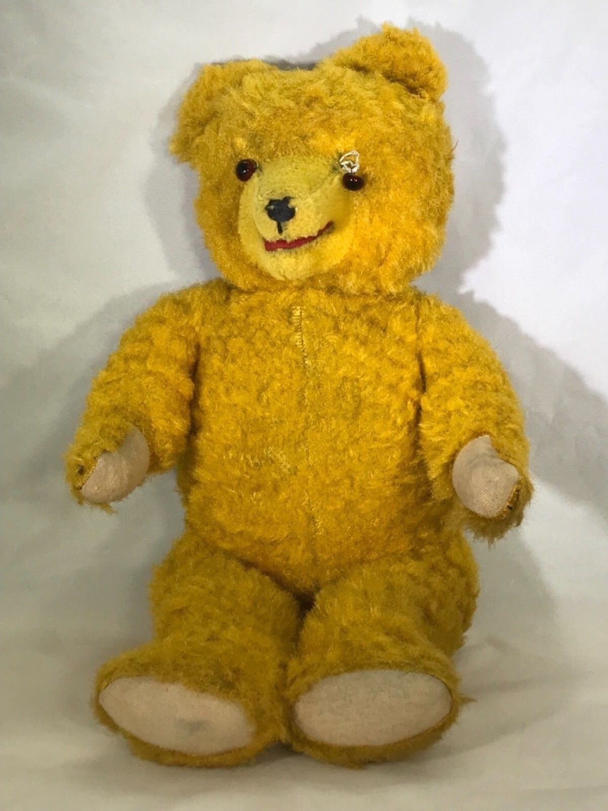 """Rare Antique 18"""" Fully Jointed Teddy Bear Working Growler Box (AB)"""