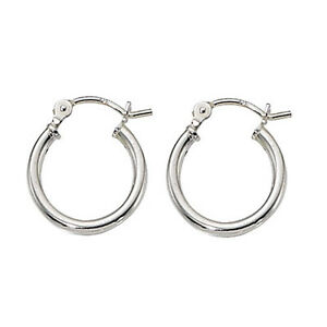 Sterling Silver Hinged Hoop Earrings - 15mm XG2uRntnyh