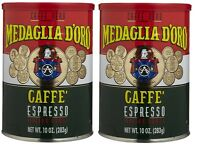 Medaglia D'oro Espresso 2 Cafe Coffee 10oz Cans Free Shipping