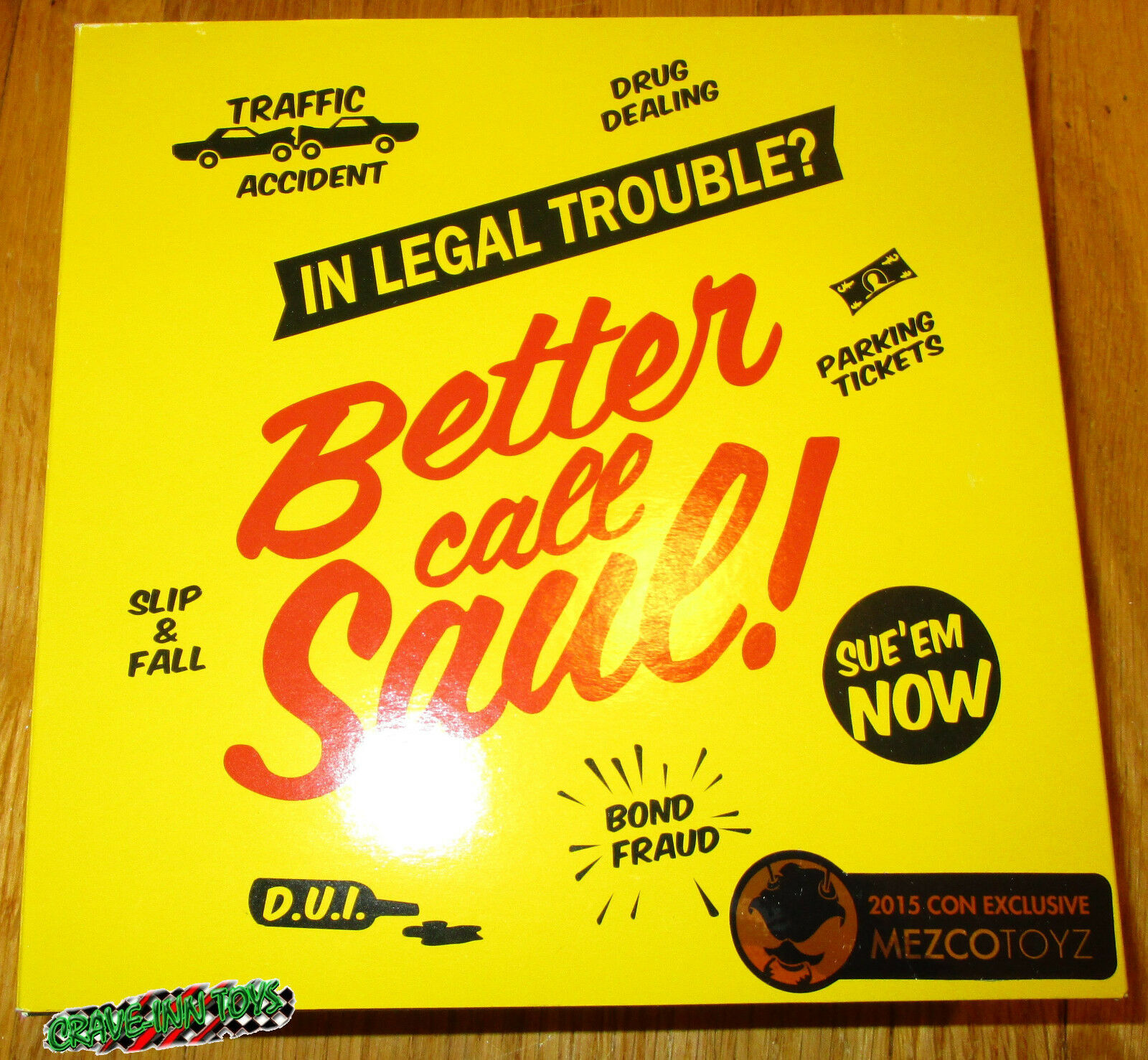 SDCC 2015 2015 2015 MEZCO BETTER CALL SAUL GOODMAN FIGURE EXCLUSIVE BREAKING BAD LE 1ca260