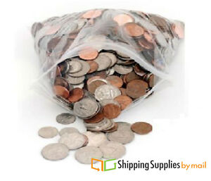 """7"""" x 10"""" Clear Reclosable Plastic Storage Bag 2 Mil Poly Shipping 2000 Bags"""