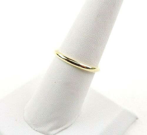 Sterling Silver Yellow Gold Plated 2 mm Wide Comfort Fit Band