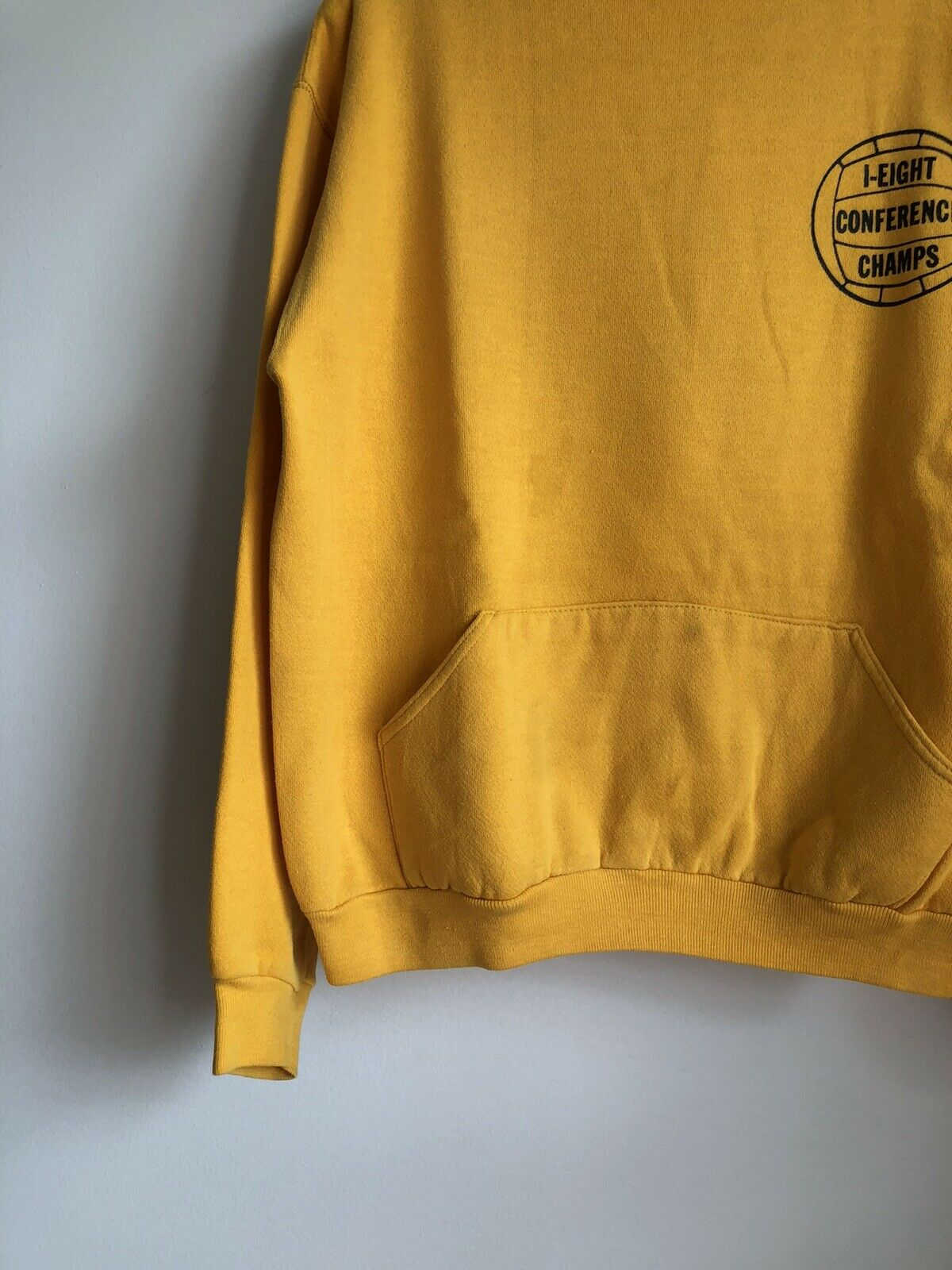 VTG 70s Russell Athletic Gold Yellow Hoodie Sweat… - image 4