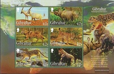 Animal Kingdom Sunny Gibraltar Block109 Mint Never Hinged Mnh 2012 Affected Species By Scientific Process
