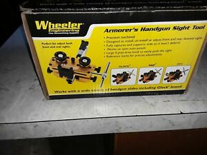 Gunsmithing and Maintenance Wheeler Engineering Armorers Handgun Sight Tool with Heavy-Duty Construction and Reversible Assembly for Handguns