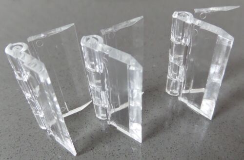 Clear Acrylic Plastic Piano Continuous Hinges Hinge 25mm-300mm Various Packs
