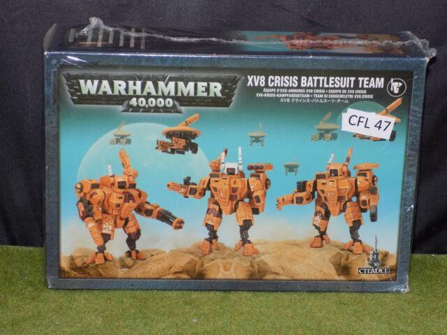 Warhammer 40k Tau XV8 CRISIS BATTLESUIT TEAM New in Box sealed (CFL 47)