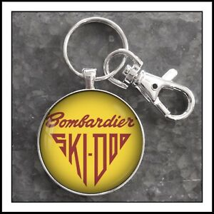 Vintage-Bombardier-SkiDoo-Emblem-Photo-Keychain-Snowmobile-Gift