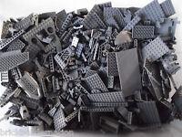 Lego 100+ Dark Grey Mix Of Parts Pieces Huge Bulk Lot Random Legos Lb Gray