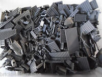 Lego 100+ Dark Grey Mix Of Parts Pieces Huge Bulk Lot Random Legos Lb Gray