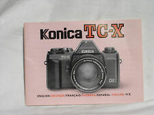 KONICA TC-X camera owners manual .  Instruction Manual.