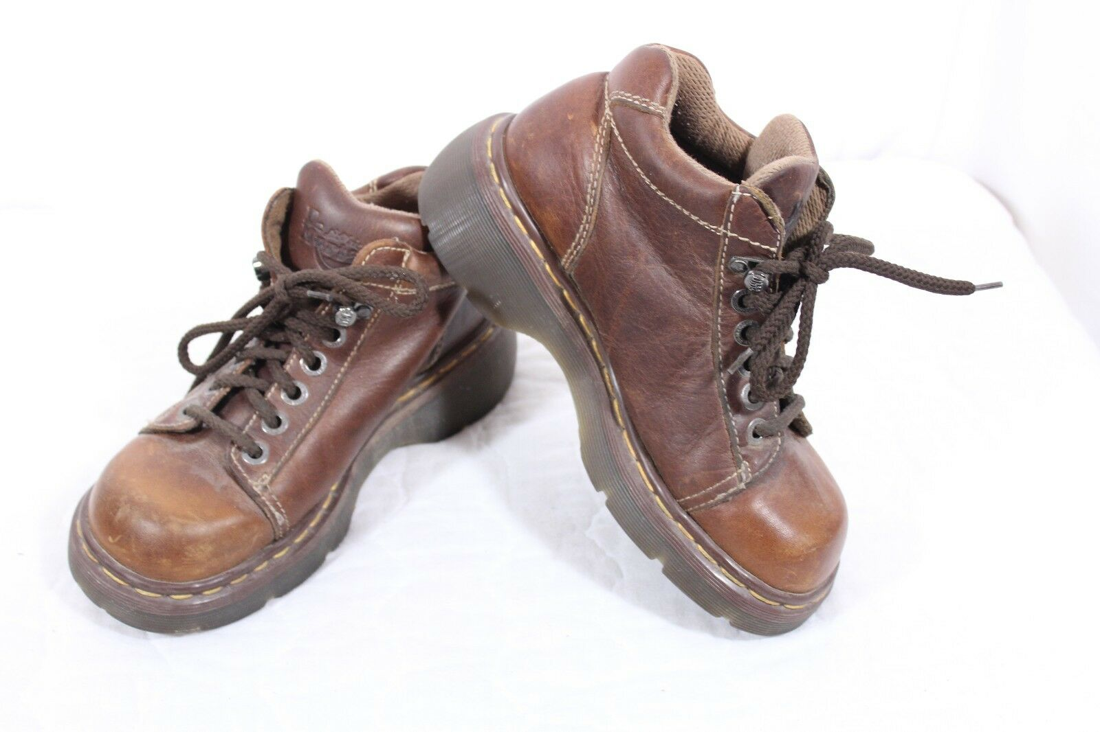 Dr. Martens SZ 7 US Brown Distressed Smooth Trail Blazer Leather Boots