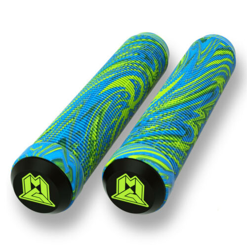 Madd Gear MGP 180 mm Swirl Grind Grips Scooter//BMX Handle Bar Grips Paire