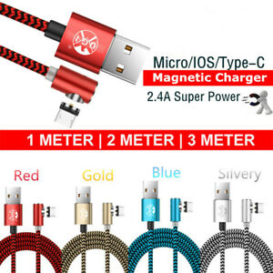 90-Degree-Magnetic-Cable-Micro-usb-Type-C-Fast-Charging-Cable-L-Line-Charger