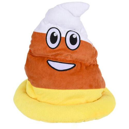 Candy Corn Poop Hat Emoji Emoticon Halloween Decor Costume Accessories Plush