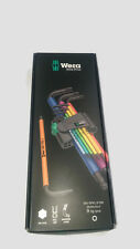 Wera 05073593001 Hex Plus 9 Pc Colour Coded Ball End Hex Allen Key Set Metric