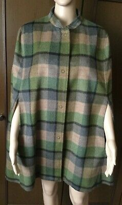 Cloak Coat BENETTON Woman, green color, size 48, wool Mantello Cappotto Donna | eBay