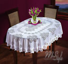 Oval Tablecloth White Large or Medium Premium Quality