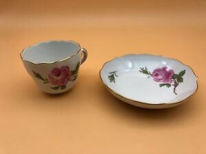 MEISSEN-Place-Setting-Cup-And-Teller-2-Schleifstriche