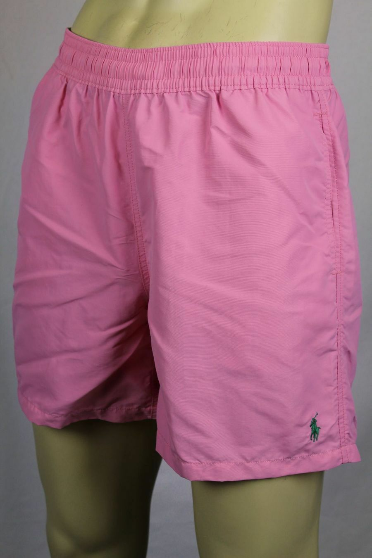 Ralph Lauren Pink Swim Shorts Trunks Green Pony NWT
