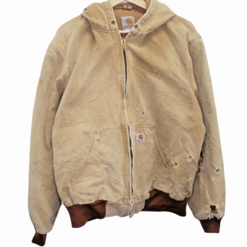 S145 Vintage Carhartt Chore Jacket Duck Brown Deni