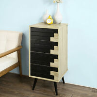 Retro Bedside Table Vintage Nightstand Cupboard Small Chest Of Drawers Furniture
