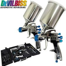 Devilbiss Slg 650 Gravity Fed Compliant Amp Hvlp Spray Guns Guage Amp Cleaning Kit