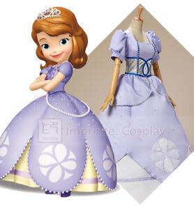 Detalles De Vestido Princesa Sofía Para Adultos Sofía La Primera Cosplay Disfraz Libre Pp Ver Título Original