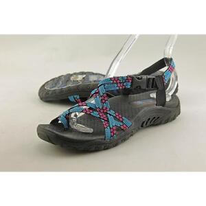 b2a55fe267b4 Skechers Women s Reggae Loopy Toe Ring Sandal Blue pink 6 M US